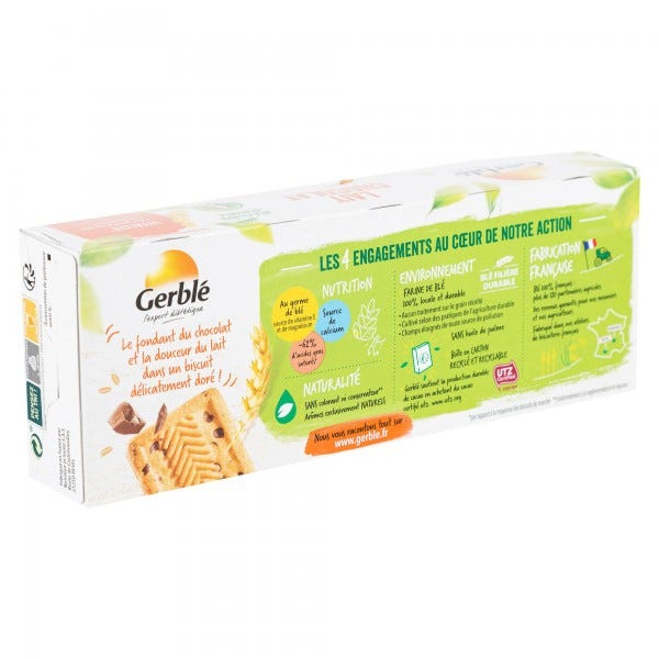 Gerble Biscuit Milk Chocolate 230G