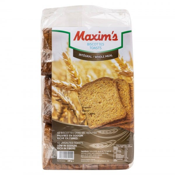 Maxim's Whole Wheat Toast 330G
