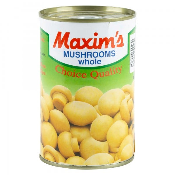 Maxim's Mushrooms Whole Tin Canned 390G
