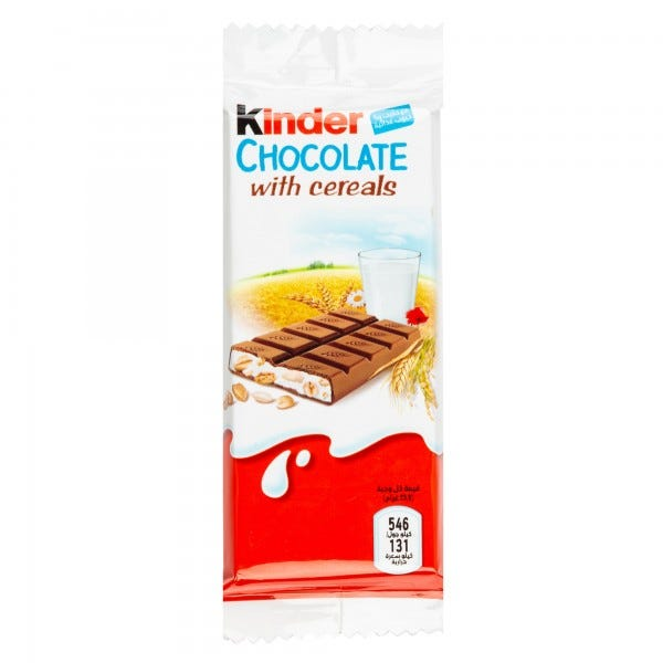Kinder Country Chocolate With Cereals Bar 23G