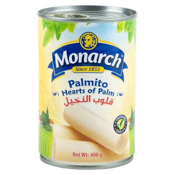 Monarch Palmito Canned 400G