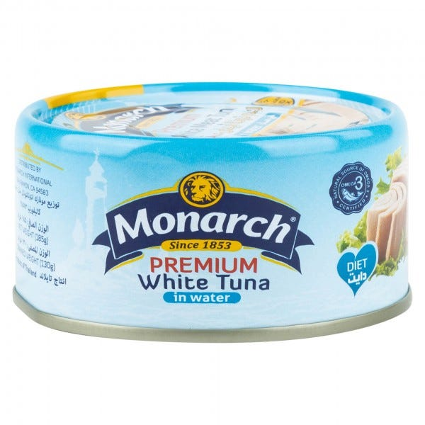 Monarch Tuna In Water Canned 185g