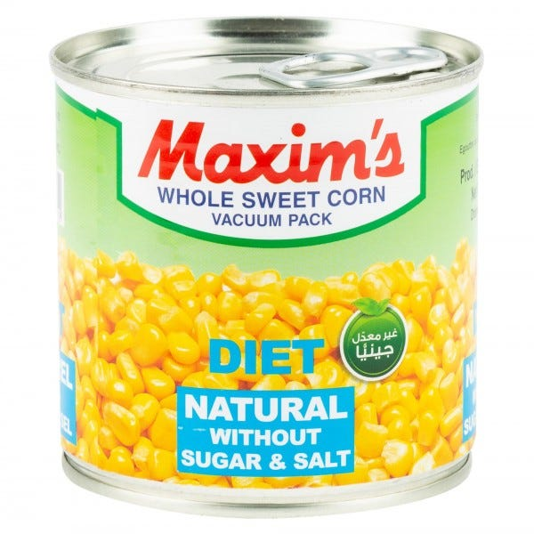 Maxim's Whole Sweet Corn Diet Canned 340G
