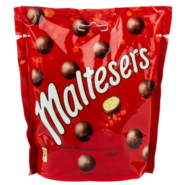 Maltesers Round Milk Chocolate Large Bag 175G