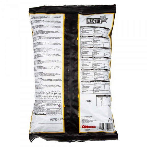 Wanted Nacho Cheese Flavored Tortilla Chips 200G