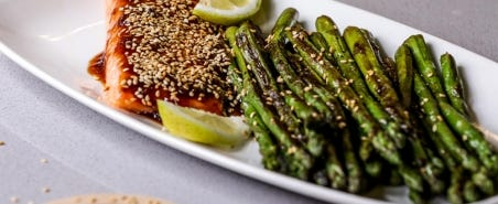 Teriyaki Salmon With Roasted Asparagus