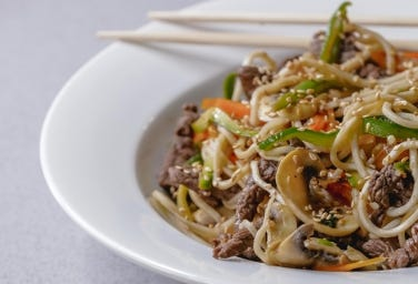 Stir Fry Beef And Vegetables Noodles